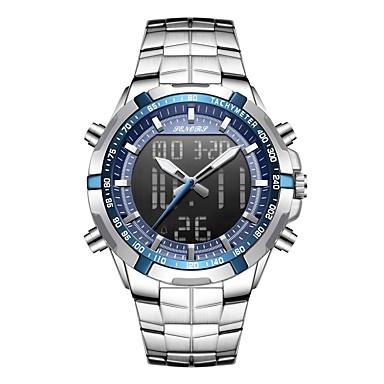 Недорогие Часы на металлическом ремешке-Муж. Спортивные часы Наручные часы электронные часы Японский Японский кварц Нержавеющая сталь Красный / Желтый / Небесно-голубой 30 m ЖК экран С двумя часовыми поясами Фосфоресцирующий / Один год
