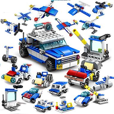 Stavební bloky 16 pcs Policie Ruční výroba Interakce rodič-dítě Vše Hračky Dárek