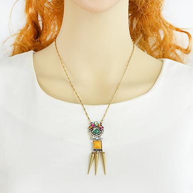 billige Mode Halskæde-Dame Multifarve Halskædevedhæng Nitte Mode Chrome Guld 47 cm Halskæder Smykker 1pc Til Daglig