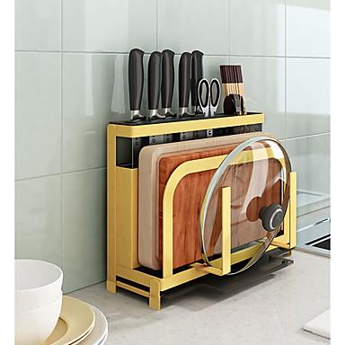 キッチン組織 ラック&ホルダー / 調理器具ホルダー / ハンギングバスケット 金属 保存容器 1セット
