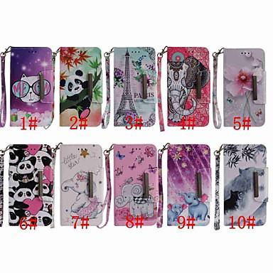ieftine Carcase / Huse de LG-Maska Pentru LG LG Q Stylus / LG Stylo 4 / LG K30 Portofel / Titluar Card / Anti Șoc Carcasă Telefon Fluture / Elefant / Panda Greu PU piele