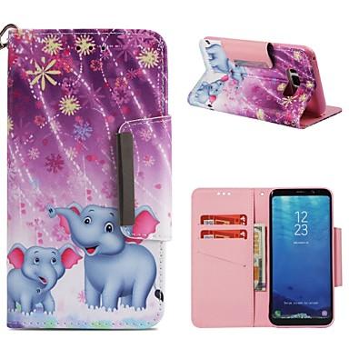 voordelige Galaxy S-serie hoesjes / covers-hoesje Voor Samsung Galaxy S9 / S9 Plus / S8 Plus Portemonnee / Kaarthouder / Schokbestendig Volledig hoesje Olifant Hard PU-nahka