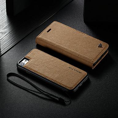 voordelige iPhone 7 hoesjes-hoesje Voor Apple iPhone 8 / iPhone 7 Kaarthouder / met standaard / Flip Volledig hoesje Effen Hard PU-nahka / DHZ