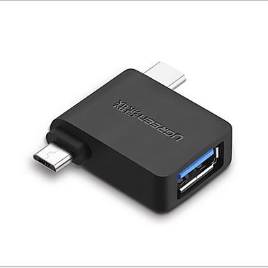 Недорогие Универсальные аксессуары для мобильных телефонов-Micro USB / Type-C Адаптер <1m / 3ft OTG ПВХ Адаптер USB-кабеля Назначение Samsung / Huawei / Xiaomi