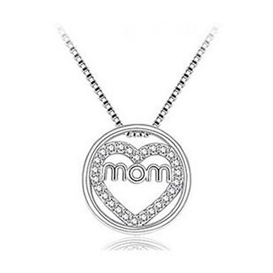 efdb461d98b Women's Pendant Necklace Heart Fashion Chrome Imitation Diamond Silver 40+5  cm Necklace Jewelry 1pc For Daily 7135072 2019 – $5.99