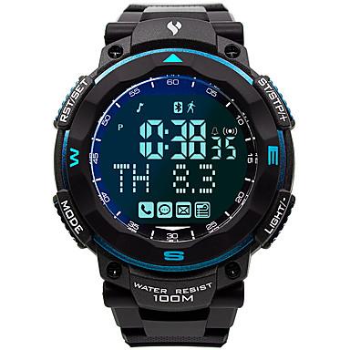 Χαμηλού Κόστους Ανδρικά ρολόγια-Ανδρικά Στρατιωτικό Ρολόι Ιαπωνικά Γιαπωνέζικο Quartz καουτσούκ Μαύρο 100 m Ανθεκτικό στο Νερό Smart Bluetooth Ψηφιακό Μοντέρνα Πολύχρωμα - Μπλε Ενας χρόνος Διάρκεια Ζωής Μπαταρίας