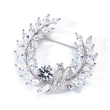 92d854ec7479a Women's AAA Cubic Zirconia Brooches Pearl Stylish Brooch Jewelry ...