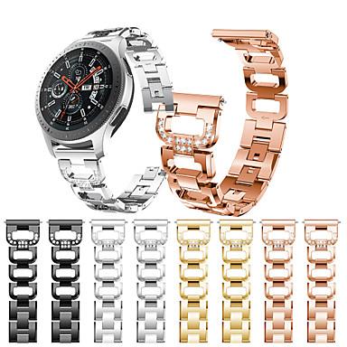 voordelige Horlogebandjes voor Samsung-Horlogeband voor Gear S3 Frontier / Gear S3 Classic / Samsung Galaxy Watch 46 Samsung Galaxy Sportband / Sieradenontwerp Roestvrij staal Polsband