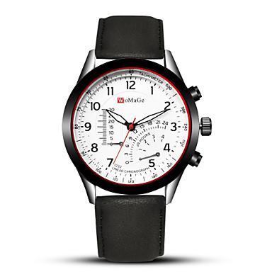 זול שעוני גברים-בגדי ריקוד גברים שעוני ספורט שעוני שמלה שעון יד קווארץ עור שחור / חום יצירתי מגניב אנלוגי-דיגיטלי פאר אופנתי אריסטו - חום שחור לבן חאקי שנה אחת חיי סוללה