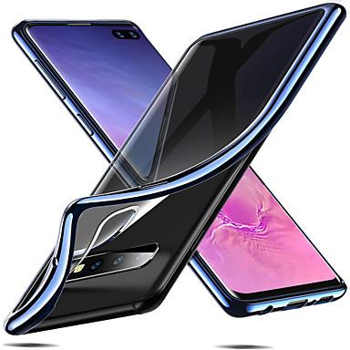 voordelige Galaxy S-serie hoesjes / covers-hoesje Voor Samsung Galaxy S9 / S9 Plus / S8 Plus Beplating Achterkant Effen Zacht TPU