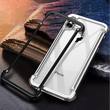 Недорогие Кейсы для iPhone-Кейс для Назначение Apple iPhone X Защита от удара / Матовое / Своими руками Бампер Однотонный Твердый Алюминий