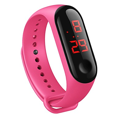 levne Pánské-Pánské Digitální hodinky Digitální Silikon Bílá / Modrá / Červená 30 m Voděodolné kreativita Digitální Módní Barevná - Červená Modrá Růžová