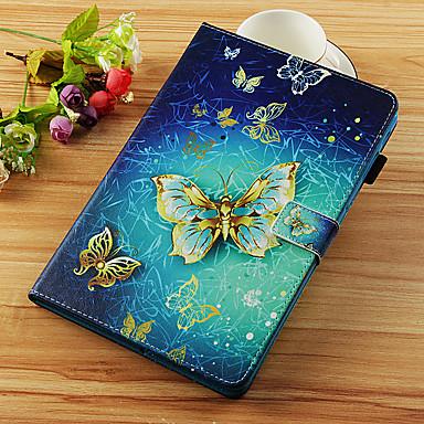 voordelige Samsung Tab-serie hoesjes / covers-hoesje Voor Samsung Galaxy Tab S4 10.5 (2018) / Tab A2 10.5(2018) T595 T590 / Tab S2 9.7 Portemonnee / Kaarthouder / met standaard Volledig hoesje Vlinder Hard PU-nahka