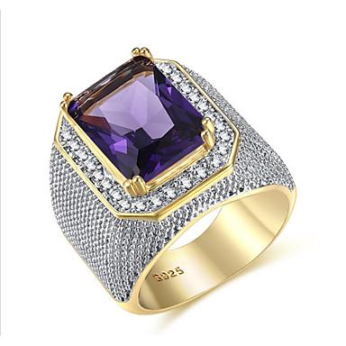 ieftine Inele-Bărbați Inel Zirconiu Cubic 1 buc Mov Alamă Geometric Shape Modă Petrecere / Zilnic Costum de bijuterii / Solitaire