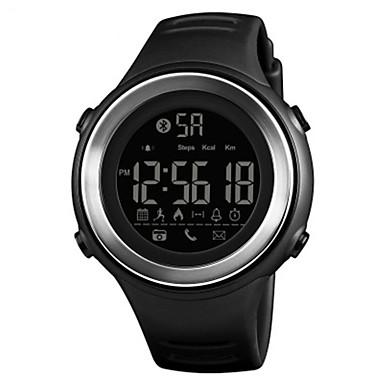 Χαμηλού Κόστους Ανδρικά ρολόγια-SKMEI Ανδρικά Αθλητικό Ρολόι Ψηφιακό σιλικόνη καουτσούκ Μαύρο / Νεφρίτης 50 m Ανθεκτικό στο Νερό Bluetooth Ημερολόγιο Ψηφιακό Καθημερινό Μοντέρνα - Μπλε Μαύρο / Άσπρο Χακί
