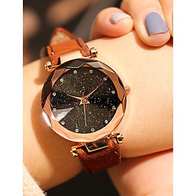Dámské Náramkové hodinky Křemenný Kůže Černá / Červená / Hnědá Voděodolné Hodinky na běžné nošení Analogové Vintage Módní - Červená Zelená Růžová