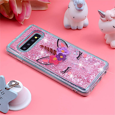 Case For Samsung Galaxy Galaxy S10 Plus / Galaxy S10 E Shockproof / Flowing Liquid / Pattern Back Cover Unicorn / Glitter Shine Soft TPU for S9 / S9 Plus / S8 Plus