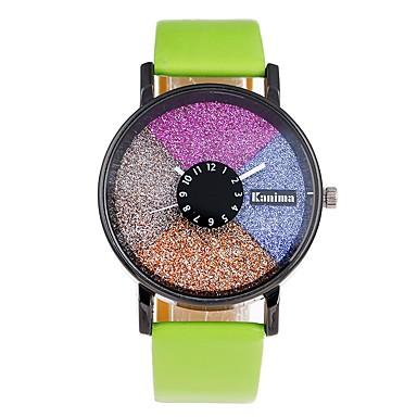 levne Pánské-Pánské Digitální hodinky Křemenný Kůže Bílá / Červená / Zelená Roztomilý Hodinky na běžné nošení Rozkošný Analogové Módní Barevná - Zelená Modrá Světle modrá