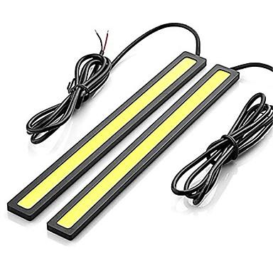 economico Luci diurne-2pcs Connessione cablata Auto Lampadine 12 W COB 600 lm LED Luce di posizione Per Universali Tutti gli anni