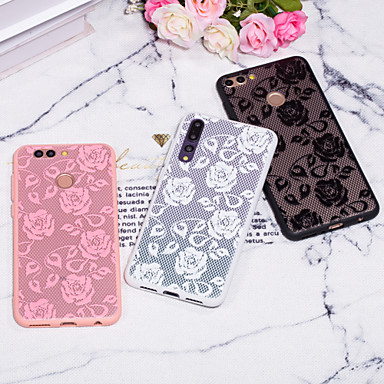 voordelige Huawei Mate hoesjes / covers-hoesje Voor Huawei Huawei P20 / Huawei P20 Pro / Huawei P20 lite Reliëfopdruk / Patroon Achterkant Lace Printing Hard PC / P10 Plus / P10 Lite / P10