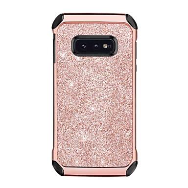 BENTOBEN Etui Käyttötarkoitus Samsung Galaxy Galaxy S10 E Iskunkestävä / Pinnoitus / Kimmeltävä Takakuori Yhtenäinen / Kimmeltävä Kova PU-nahka / TPU / Hiilikuitu varten Galaxy S10 E