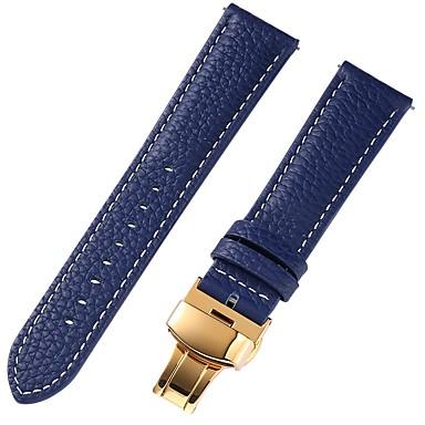 Χαμηλού Κόστους Ανδρικά ρολόγια-γνήσιο δέρμα / Δερμάτινο / Τρίχα Μοσχαριού Παρακολουθήστε Band Λουρί για Μπλε 17 εκατοστά / 6.69 ίντσες / 18 εκατοστά / 7 ίντσες / 19 εκατοστά / 7,48 ίντσες 1cm / 0.39 Ίντσες / 1.2cm / 0.47