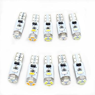 billige Bil Indvendige Lys-10pcs T5 Bil Elpærer 0.5 W SMD 3014 80 lm 5 LED Indvendige Lights Til Universel Alle år