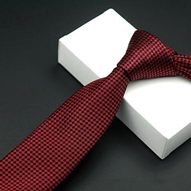 economico Abbigliamento uomo-Per uomo Da ufficio Cravatta A quadri