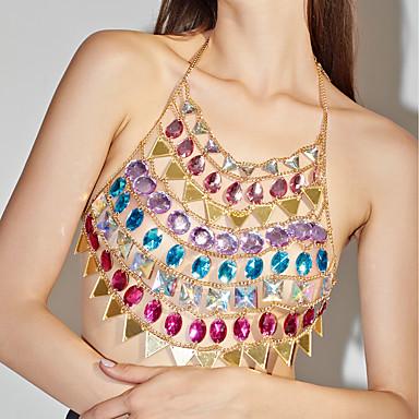رخيصةأون مجوهرات الجسم-نسائي مجوهرات الجسم  75 cm سلسلة الجسم / سلسلة البطن ذهبي أكريليك مجوهرات من أجل هدية / نادي / بيكيني الصيف