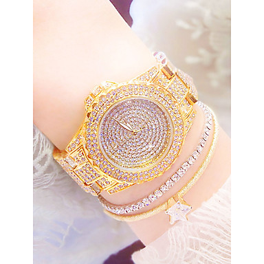 Pentru femei Ceas de Mână ceas de aur Quartz Oțel inoxidabil Argint / Auriu Rezistent la Apă Ceas Casual Analog Casual Modă - Auriu Argintiu Auriu+Alb