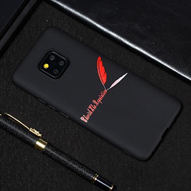 voordelige Huawei Y-serie hoesjes / covers-hoesje Voor Huawei Huawei Nova 3i / Huawei Nova 4 / Huawei Honor 9 Lite Mat / Patroon Achterkant Woord / tekst / Veren Zacht TPU