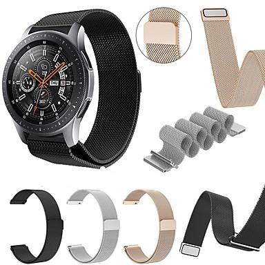 Недорогие Часы для Samsung-Ремешок для часов для Gear S3 Frontier / Gear 2 R380 / Gear 2 Neo R381 Samsung Galaxy Миланский ремешок Металл Повязка на запястье