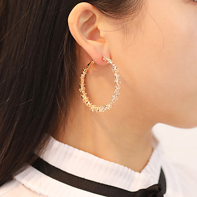 df9ab292bb9ab8 Women's Hoop Earrings Retro Statement Stylish Earrings Jewelry Gold / Silver  For Party Gift Carnival 1
