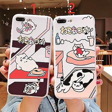 voordelige iPhone X hoesjes-hoesje voor apple iphone xr / iphone xs max patroon / frosted achterkant cartoon soft tpu voor iphone 6 6 plus 6s 6s plus 7 8 7plue 8 plus x xs