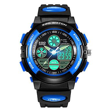 זול שעוני גברים-SKMEI שעוני ספורט שעון דיגיטלי קווארץ דמוי עור מרופד שחור 30 m עמיד במים Alarm לוח שנה אנלוגי-דיגיטלי אופנתי לילדים - צהוב אדום כחול שנתיים חיי סוללה / כרונוגרף / אזור זמן כפול / שעון עצר