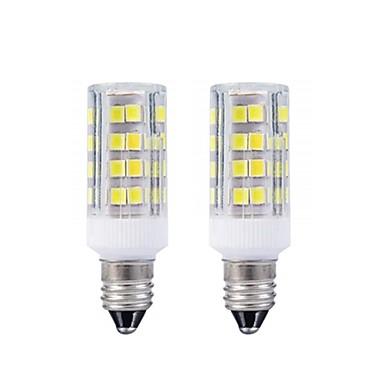 povoljno LED žarulje-2pcs e11 vodio žarulja topla bijela 3000k / bijela 6000k žarulje 3w 20w 40w halogena lampa ekvivalent mini candelabra baza ac110 / 220v omni-directional 360 stupnjeva osvjetljenje za stropni ventilato