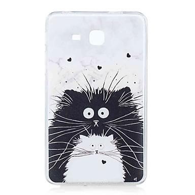 voordelige Samsung Tab-serie hoesjes / covers-hoesje Voor Samsung Galaxy Tab A 7.0 (2016) Patroon Achterkant Kat Zacht TPU