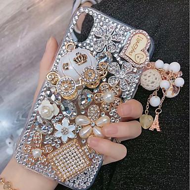 voordelige iPhone 6 hoesjes-hoesje Voor Apple iPhone XS / iPhone XR / iPhone XS Max Strass Achterkant Glitterglans Hard TPU