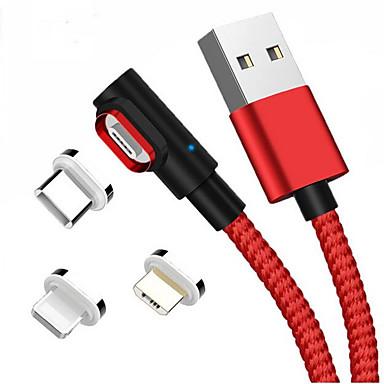halpa Kaapelit ja adapterit-Mikro USB / Valaistus / C-tyypin Kaapeli 1m-1.99m / 3ft-6ft Kaikki yhdessä / Punottu Alumiini / Nylon USB-kaapelisovitin Käyttötarkoitus Macbook / iPad / Samsung