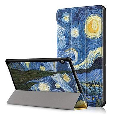 ieftine Carcase / Huse de Huawei-Maska Pentru Huawei MediaPad T3 8.0 / Huawei Mediapad T5 10 Anti Șoc / Cu Stand / Ultra subțire Carcasă Telefon Cer Greu PU piele pentru Huawei Mediapad T5 10 / Huawei MediaPad T3 8.0 / Huawei