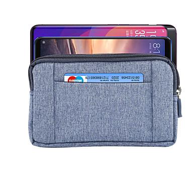 voordelige Universele hoesjes & tasjes-5/6 inch case voor universele kaarthouder heuptas / waistpack effen gekleurde zachte textiel