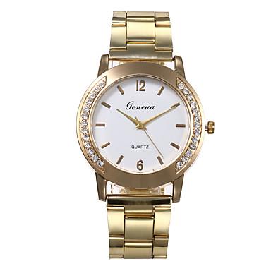 preiswerte Damen Uhren-Damen Quartz Uhr Freizeit Modisch Gold Legierung Chinesisch Quartz Weiß Schwarz Silber Diamant Armbanduhren für den Alltag 30 m 1 Stück Analog Ein Jahr Batterielebensdauer