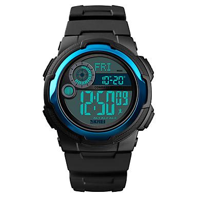 זול שעוני גברים-SKMEI בגדי ריקוד גברים שעונים צבאיים דיגיטלי סיליקוןריצה שחור 50 m Military Alarm כרונוגרף דיגיטלי חוץ אופנתי - שחור כחול כהה כחול בהיר שנה אחת חיי סוללה