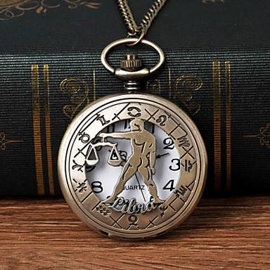 levne Pánské-Pánské Kapesní hodinky Křemenný Brązowy S dutým gravírováním Hodinky na běžné nošení Velký ciferník Analogové Módní Kostra - Bronzová
