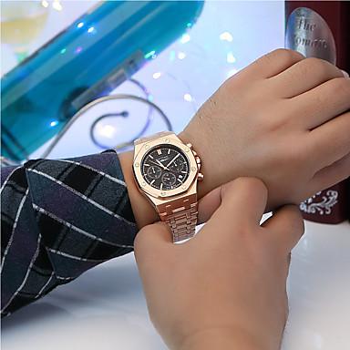 Χαμηλού Κόστους Ανδρικά ρολόγια-Ανδρικά Ρολόι Φορέματος Ιαπωνικά Χαλαζίας Ρετρό Μαύρο / Χρυσό / Χρυσό Τριανταφυλλί Στρατιωτικό Χρονογράφος Νεό Σχέδιο Αναλογικό Νέα άφιξη Κομψό - / Ενας χρόνος / Μεγάλο καντράν