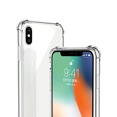voordelige iPhone X hoesjes-hoesje Voor Apple iPhone XS / iPhone XR / iPhone XS Max Schokbestendig / Transparant Achterkant Effen Zacht TPU