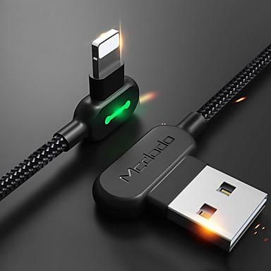 Iluminación Cable 1m-1.99m / 3ft-6ft Trenzado / Carga rapida Nailon Adaptador de cable USB Para iPhone