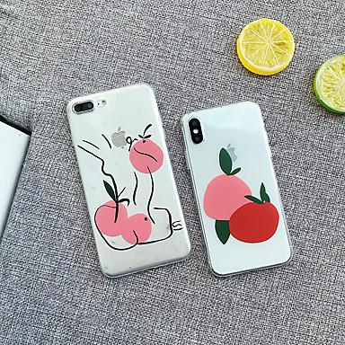 Недорогие Кейсы для iPhone-Кейс для Назначение Apple iPhone XS / iPhone XR / iPhone XS Max Защита от удара Кейс на заднюю панель Продукты питания / дерево Мягкий ТПУ / ПК