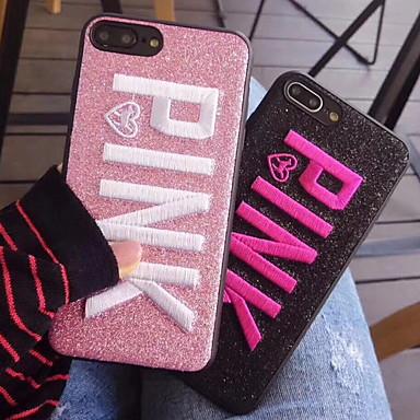 voordelige iPhone 6 hoesjes-hoesje Voor Apple iPhone XR / iPhone XS Max / iPhone X Patroon / Glitterglans Achterkant Glitterglans Zacht PU-nahka