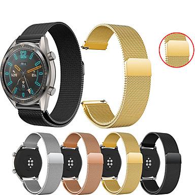 billige Klokkeremmer til Huawei-Klokkerem til Huawei Watch GT / Watch 2 Pro Huawei Sportsrem / Milanesisk rem Metall / Rustfritt stål Håndleddsrem